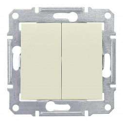 Выключатель двухклавишный Schneider Electric Sedna 10A 250V SDN0300147