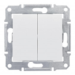 Выключатель двухклавишный Schneider Electric Sedna IP44 10A 250V SDN0300421