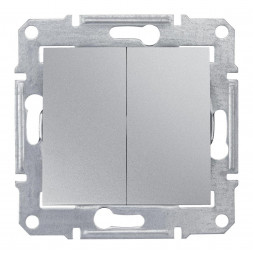 Выключатель двухклавишный Schneider Electric Sedna IP44 10A 250V SDN0300460