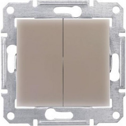 Выключатель двухклавишный Schneider Electric Sedna IP44 10A 250V SDN0300468