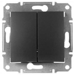 Выключатель двухклавишный Schneider Electric Sedna IP44 10A 250V SDN0300470