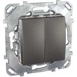 Выключатель двухклавишный Schneider Electric Unica 10AX 250V MGU5.211.12ZD