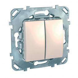 Выключатель двухклавишный Schneider Electric Unica 10AX 250V MGU5.211.25ZD