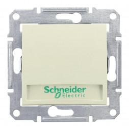 Выключатель кнопочный с подсветкой и полем для надписи Schneider Electric Sedna 10A 250V SDN1600347