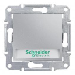 Выключатель кнопочный с подсветкой и полем для надписи Schneider Electric Sedna 10A 250V SDN1600360
