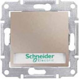 Выключатель кнопочный с подсветкой и полем для надписи Schneider Electric Sedna 10A 250V SDN1600368