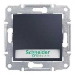 Выключатель кнопочный с подсветкой и полем для надписи Schneider Electric Sedna 10A 250V SDN1600370