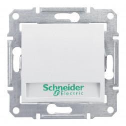 Выключатель кнопочный с подсветкой и полем для надписи Schneider Electric Sedna 10A 250V SDN1700421