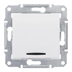 Выключатель кнопочный с синей подсветкой Schneider Electric Sedna 10A 250V SDN1600121
