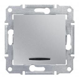 Выключатель кнопочный с синей подсветкой Schneider Electric Sedna 10A 250V SDN1600160