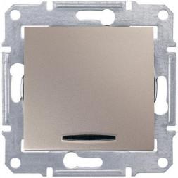 Выключатель кнопочный с синей подсветкой Schneider Electric Sedna 10A 250V SDN1600168