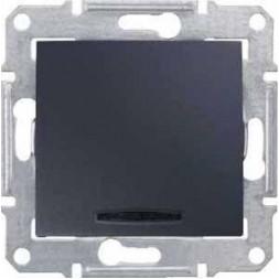Выключатель кнопочный с синей подсветкой Schneider Electric Sedna 10A 250V SDN1600170