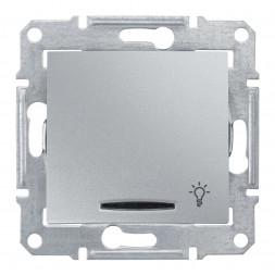 Выключатель кнопочный с синей подсветкой Свет Schneider Electric Sedna 10A 250V SDN1800160