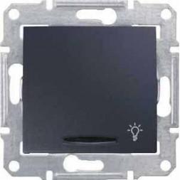Выключатель кнопочный с синей подсветкой Свет Schneider Electric Sedna 10A 250V SDN1800170