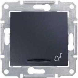 Выключатель кнопочный с синей подсветкой Звонок Schneider Electric Sedna 10A 250V SDN1600470