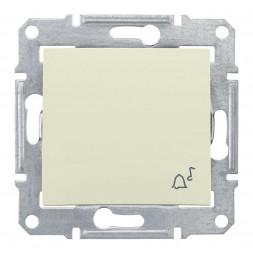 Выключатель кнопочный Звонок Schneider Electric Sedna IP44 10A 250V SDN0800347