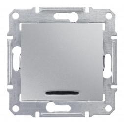 Выключатель одноклавишный 2P с красной подсветкой Schneider Electric Sedna 10A 250V SDN0201160