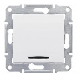 Выключатель одноклавишный 2P с красной подсветкой Schneider Electric Sedna 16A 250V SDN0201221
