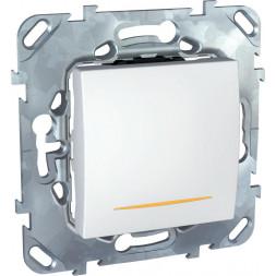 Выключатель одноклавишный 2P с подсветкой Schneider Electric Unica 16A 250V MGU5.262.18SZD