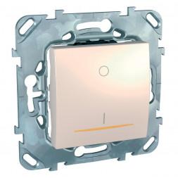 Выключатель одноклавишный 2P с подсветкой Schneider Electric Unica 16A 250V MGU5.262.25SZD