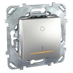 Выключатель одноклавишный 2P с подсветкой Schneider Electric Unica 16A 250V MGU5.262.30SZD