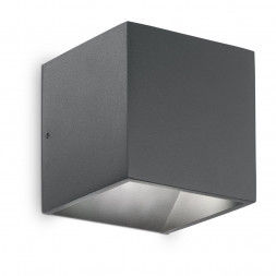 Уличный настенный светодиодный светильник Ideal Lux Rubik AP1 Antracite 3000K