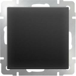 Выключатель одноклавишный черный матовый WL08-SW-1G 4690389054136