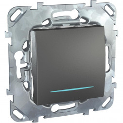 Выключатель одноклавишный кнопочный с подсветкой Schneider Electric Unica MGU5.206.12NZD
