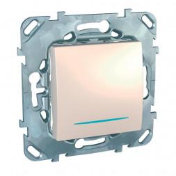 Выключатель одноклавишный кнопочный с подсветкой Schneider Electric Unica MGU5.206.25NZD