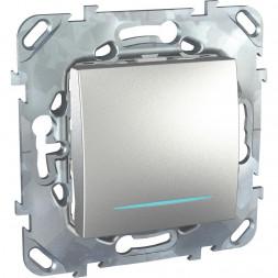 Выключатель одноклавишный кнопочный с подсветкой Schneider Electric Unica MGU5.206.30NZD