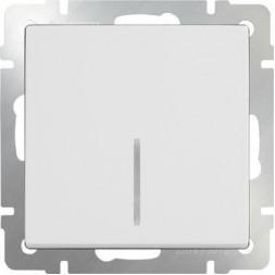 Выключатель одноклавишный проходной с подсветкой белый WL01-SW-1G-2W-LED 4690389059162