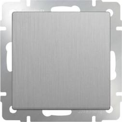Выключатель одноклавишный проходной серебряный рифленый WL09-SW-1G-2W 4690389085116
