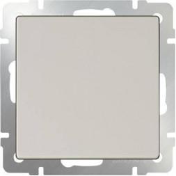 Выключатель одноклавишный проходной слоновая кость WL03-SW-1G-2W-ivory 4690389046155