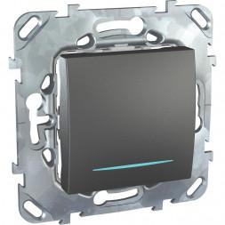 Выключатель одноклавишный с подсветкой Schneider Electric Unica MGU5.201.12NZD