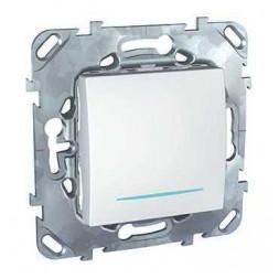 Выключатель одноклавишный с подсветкой Schneider Electric Unica MGU5.201.18NZD