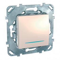 Выключатель одноклавишный с подсветкой Schneider Electric Unica MGU5.201.25NZD