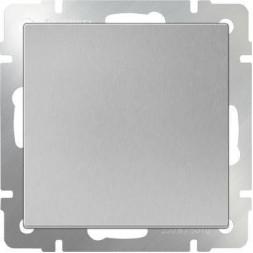 Выключатель одноклавишный серебряный WL06-SW-1G 4690389053818