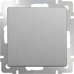 Выключатель одноклавишный серебряный рифленый WL09-SW-1G 4690389085109