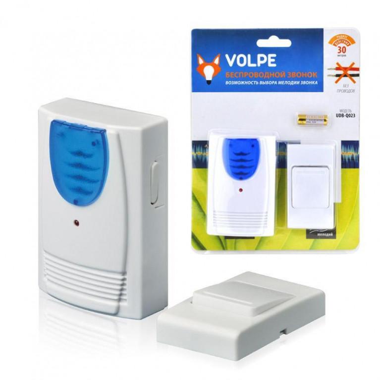 Звонок беспроводной (11016) Volpe UDB-Q023 W-R1T1-16S-30M-WH