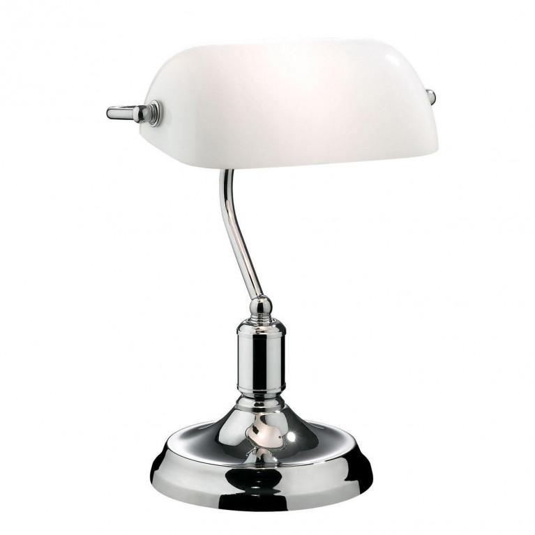 Настольная лампа Ideal Lux Lawyer TL1 Cromo