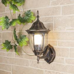 Уличный настенный светильник Elektrostandard 1002U черное золото 4690389073762