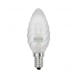 Лампа галогенная (04117) E14 42W матовая HCL-42/FR/E14 candle twisted