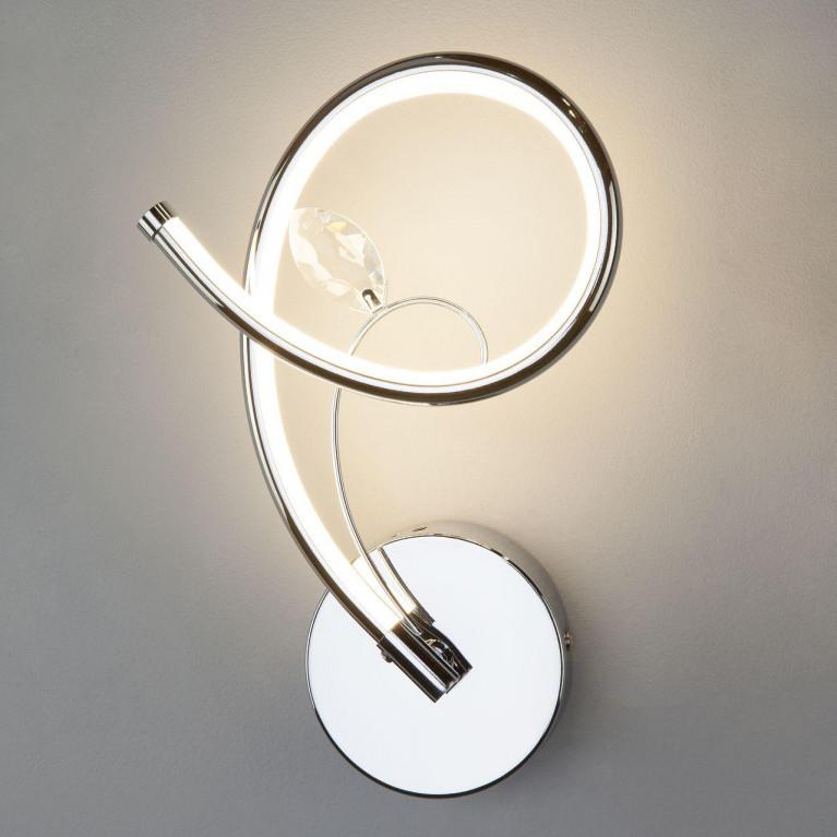 Настенный светодиодный светильник Eurosvet 90089/1 хром