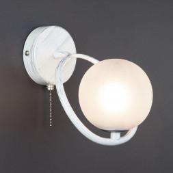 Настенный светильник Eurosvet 70089/1 белый с серебром