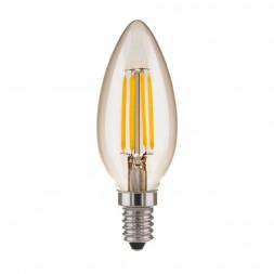 Лампа светодиодная филаментная Elektrostandard E14 7W 3300K прозрачная 4690389133022