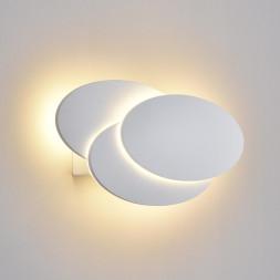 Настенный светодиодный светильник Elektrostandard Elips Led белый матовый 4690389109010